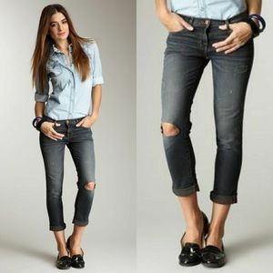 J BRAND | aoki low rise cropped jeans obsessed 187